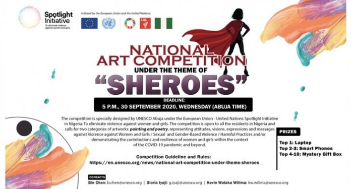 UNESCO SHEROES- National Art Competition 2020 for Young Nigerians