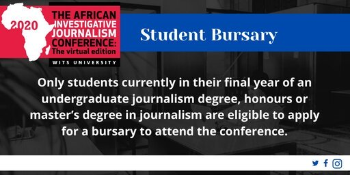 African Investigative Journalism Conference Bursary 2020 for African Journalism Students