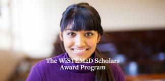Johnson & Johnson WiSTEM2D Scholars Award Program 2021 for female leaders in STEM discipline ( $150,000 award)