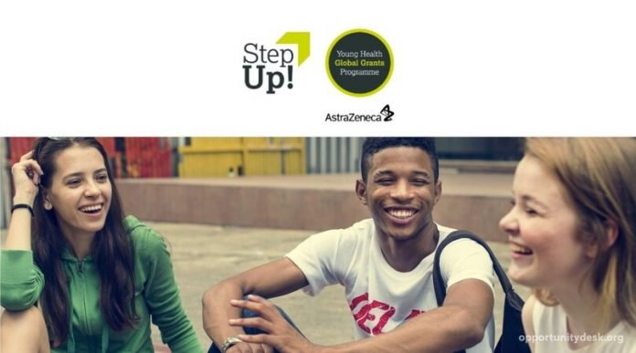 StepUp! AstraZeneca's Young Health global grants Programme 2020 for youth-focused non-profits (US$10,000 grant)