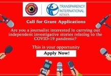Transparency International Kenya Grants 2020 for Investigative Reporting for Kenyan Journalists