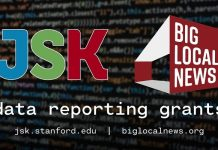 John S. Knight-Big Local News Data Reporting Grants 2020 (up to $25,000)