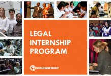 World Bank Legal Vice Presidency and Internship Program – Spring 2020