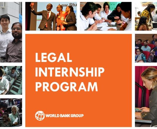 World Bank Legal Vice Presidency and Internship Program – Spring 2020