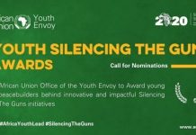 African Union Youth Envoy Youth Silencing the Gun Award 2020 for young peacebuilders in Africa ( up to $5,000 grant)