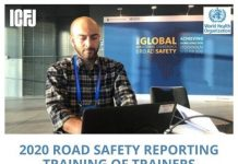 WHO/ICFJ Road Safety Reporting Training of Trainers 2020 for Journalists from Developing Countries