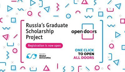Open Doors: Russian Scholarship Project 2020/2021 for International Master's & PhD Students