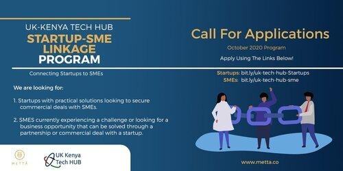 Metta Startup-SME Linkage Program 2020 for Tech Startups