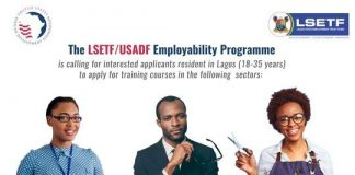 LSETF/USADF Employability Programme 2020 for Lagos State Youths