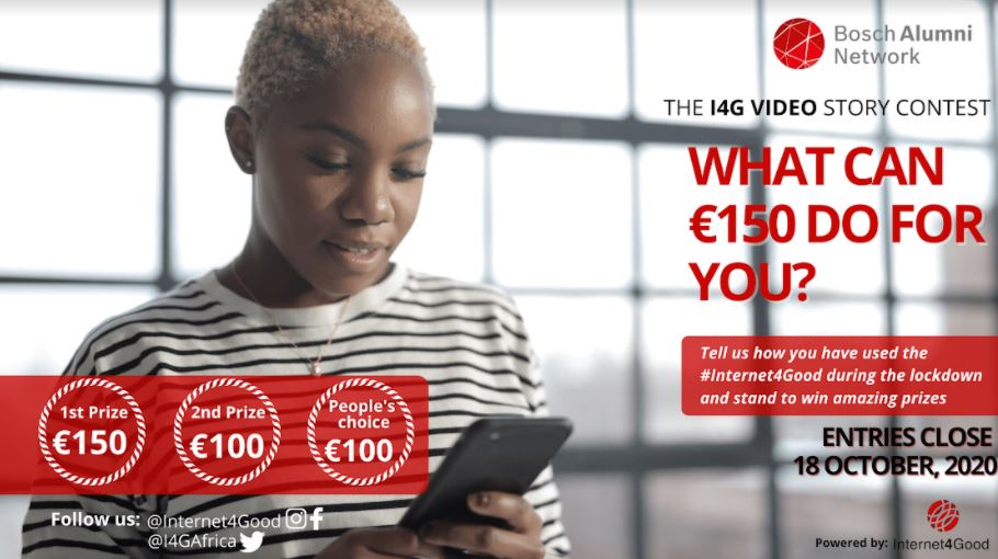 Internet4Good (I4G) Video Story Contest 2020 for Young Africans (Win Cash prizes)