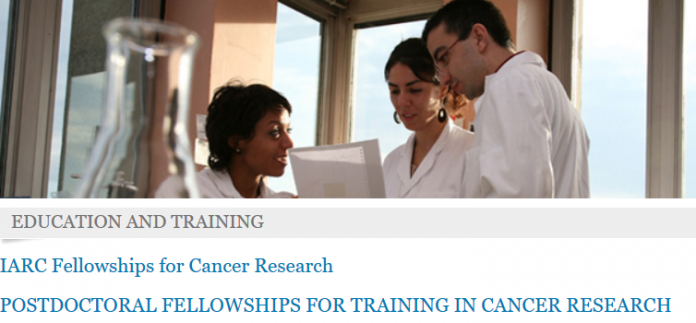 WHO International Agency for Research on Cancer (IARC) Postdoctoral Fellowships 2021/2023 for early career scientists.