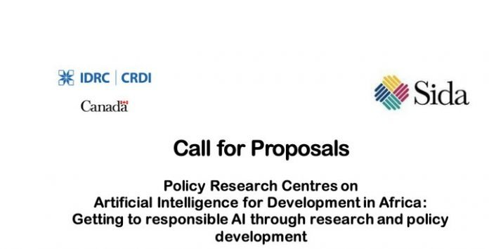 IDRC/SIDA Call for Proposals: Policy Research Centres on Artificial Intelligence for Development in Africa
