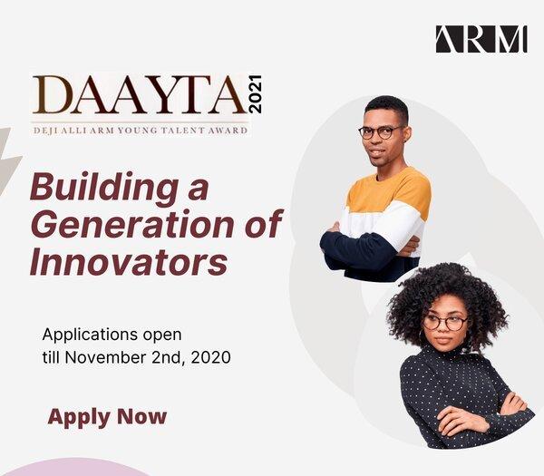Deji Alli ARM Young Talent Award 2021 for Innovative Nigerian start-ups (₦12,000,000 in Funding)