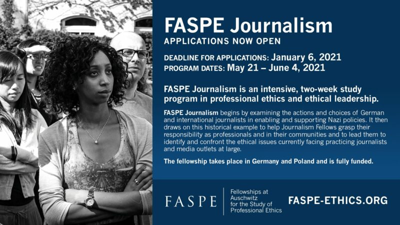 FASPE Journalism Fellowship Program 2021 for Students and Early-career Journalists (Fully-funded)