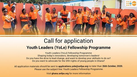 UNFPA Youth Leaders (YoLe) Fellowship Program 2020 for young Ghanaians