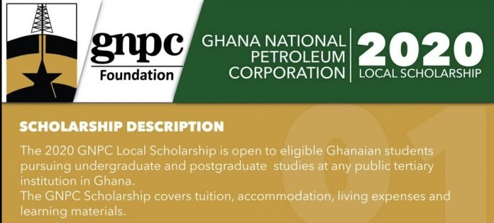 Ghana National Petroleum Corporation (GNPC) 2020/21 Local Undergraduate and Postgraduate Scholarships for young Ghanaian students