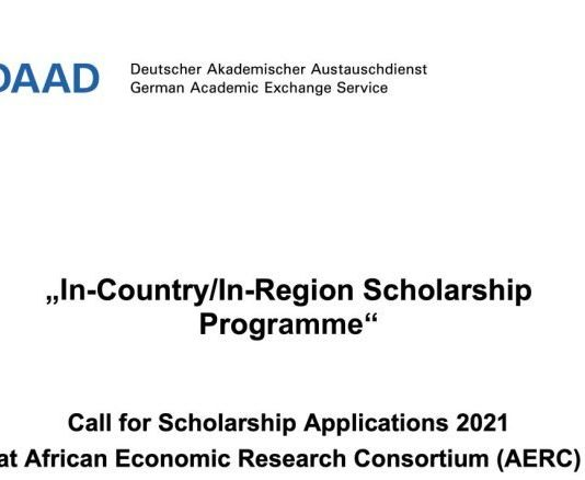 DAAD In-Country/In-Region Scholarship Programme 2021 at African Economic Research Consortium (Fully Funded)