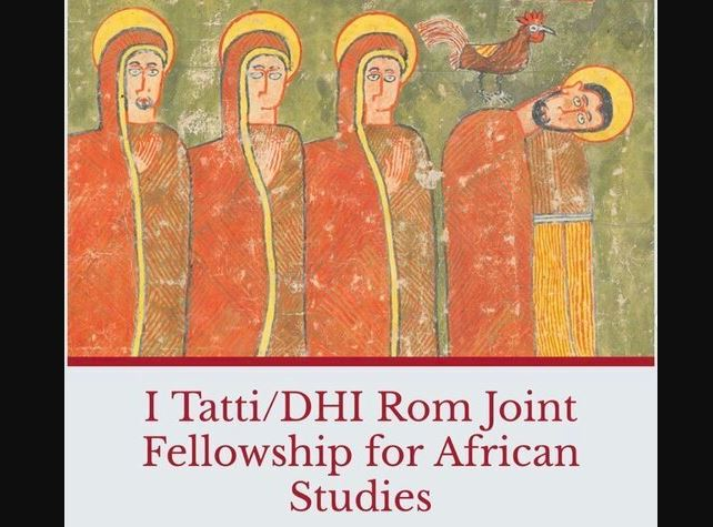 I Tatti/DHI Rom Joint Fellowship for African Studies 2021-2022 (Stipend available)