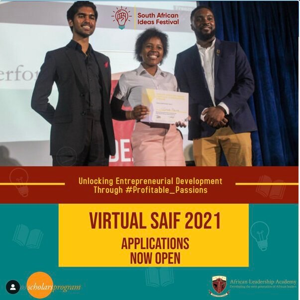 Call for Applications: The South African Ideas Festival 2021 for young Africans