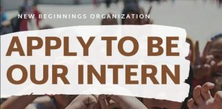 New Beginnings Organization Internship Programme 2020 for Young Leaders