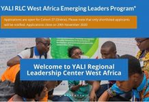 YALI RLC West Africa Emerging Leaders Program 2020/2021- Online Cohort 37