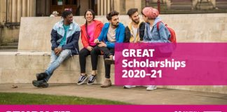 British Council Study UK GREAT Scholarships 2020/2021 for postgraduate study in the United Kingdom (Funded)