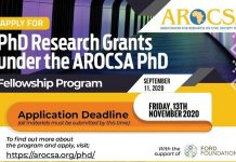 Association for Research On Civil Society In Africa (AROCSA) PhD Fellowship Program 2020/2021 ($3,500 grant)