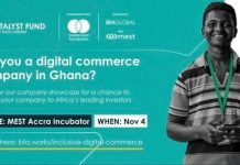 The Catalyst Fund Inclusive Digital Commerce Accelerator Program 2020 for micro and small enterprises (MSEs) in Ghana.