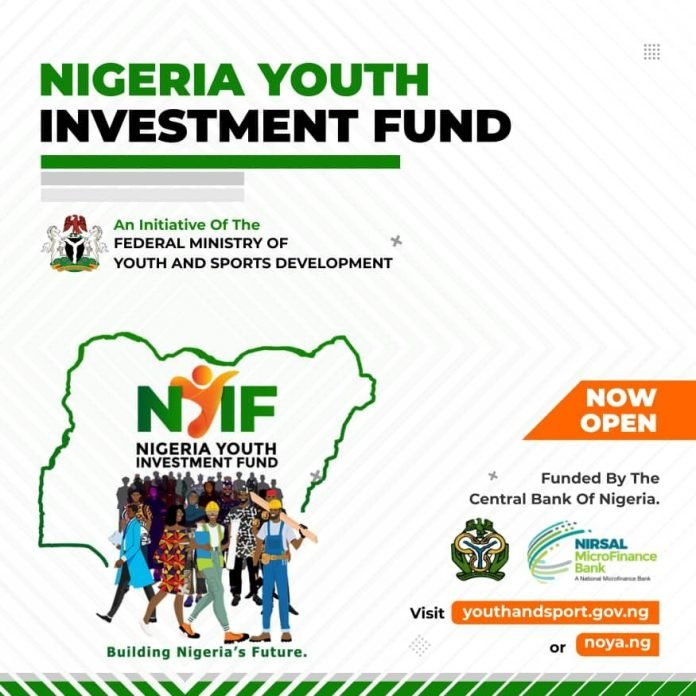 Federal Government of Nigeria Youth Investment Fund 2020 for young Nigerian Entrepreneurs