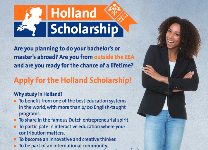 Holland Scholarships 2021/2022 for Bachelor's or Masters Study in the Netherlands (5,000 Euros)