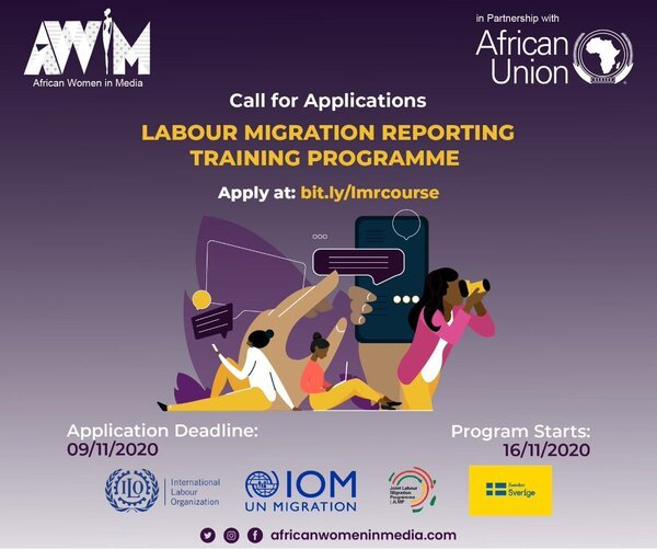African Women in Media Labour Migration Reporting Training Programme 2020 for female Journalists