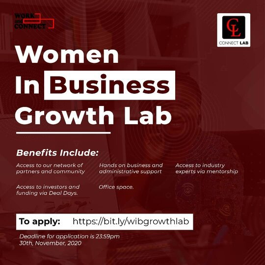 Women In Business Growth Lab 2020 for Nigerians female Entrepreneurs.