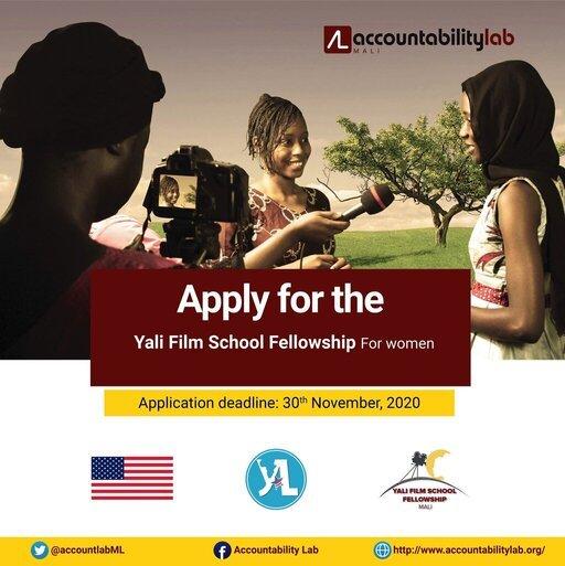 Accountability Lab/YALI Film School Fellowship 2020 for emerging Malian women leaders.