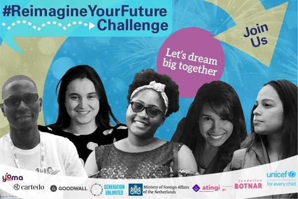 The UNICEF #ReimagineYourFuture Challenge 2020 for young people worldwide