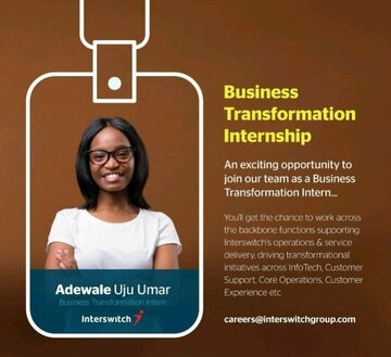 Interswitch Group Business Transformation Internship 2020 for young Nigerian graduates