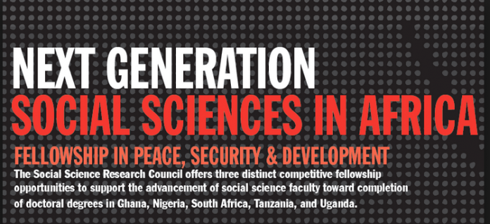 Call for Proposals: The Next Generation Social Sciences in Africa Fellowship Programme 2020/2021