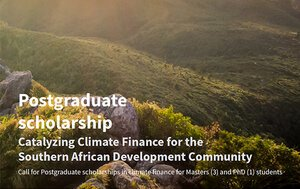 Southern Africa Climate Finance Partnership (SACFP) Postgraduate Scholarships 2021 for young African Students