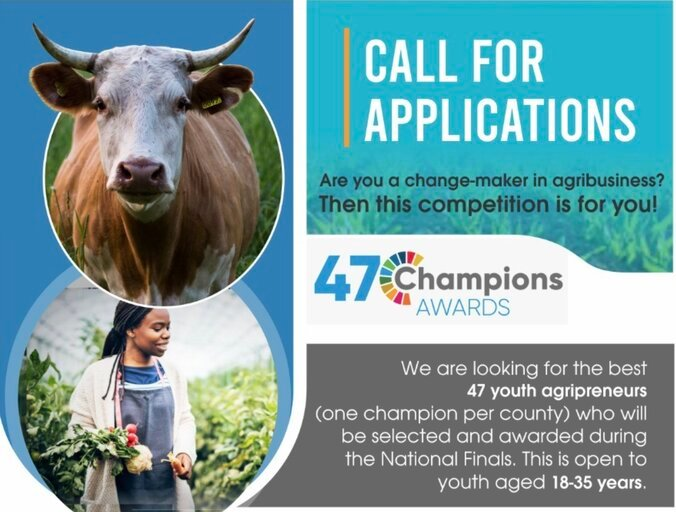 FAO/Kenya Climate Innovation Center (KCIC) 47 Champions Awards for young agripreneurs.