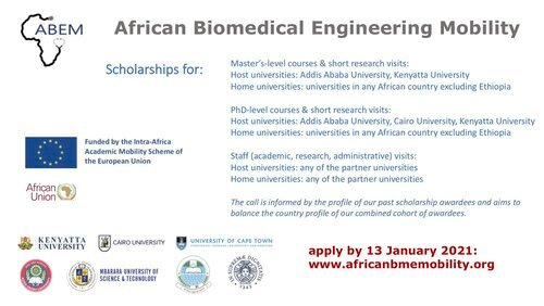 African Biomedical Engineering Mobility (ABEM) Scholarships 2021/2022 for postgraduate students and staff (Fully Funded)