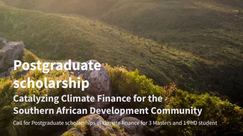 Southern Africa Climate Finance Partnership (SACFP) Postgraduate Scholarships 2021
