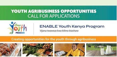 Empowering Novel Agribusiness-Led Employment (ENABLE) Youth Kenya Program 2020 for young Agripreneurs.