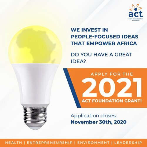 Aspire Coronation Trust Foundation 2021 Grants cycle for nonprofits and social enterprises in Africa