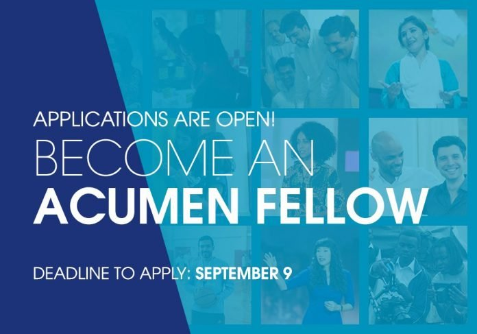 Acumen East Africa Fellows Program 2021 for emerging Leaders in East Africa (Fully Funded)