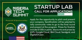 Nigeria Tech Summit 2020 Startup Lab for Nigerian Entrepreneurs