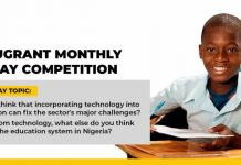 Edugrant Monthly Essay Competition 2020 for Secondary School Students in Nigeria (₦100,000 in prizes)