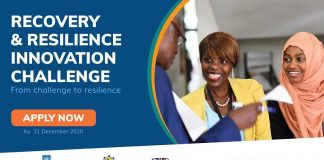 Recovery and Resilience Innovation Challenge 2020 for Entrepreneurs in Tanzania (up to $10,000)