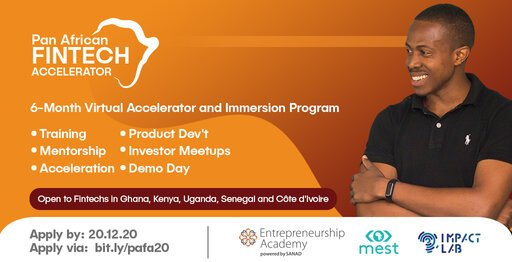 Pan-African Fintech Accelerator and Immersion Program for growth-stage FinTech startups.