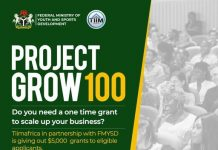 Federal Government of Nigeria Project Grow 100 for young Nigerians ($5,000 Grant )
