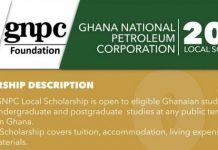 GNPC Ghana Local Undergraduate Scholarships 2020/2021 for Ghanaian students.