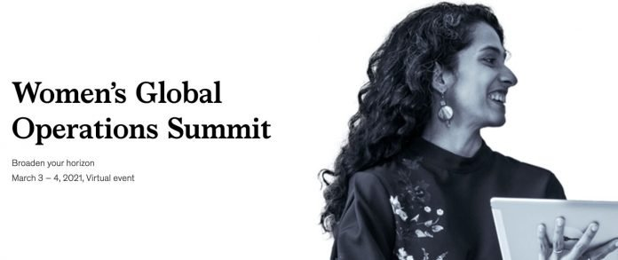 McKinsey Women's Global Operations Summit 2021 for women leaders.